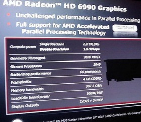 AMD radeon HD 6990 specs