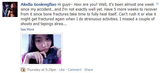 Alodia Gosiengfiao Stair Fall Accident