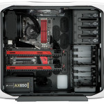 corsair graphite series 600t white edition open side panel