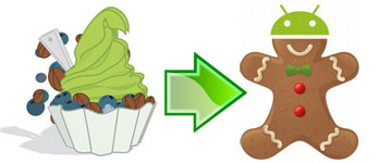 Android Froyo to Android Gingerbread