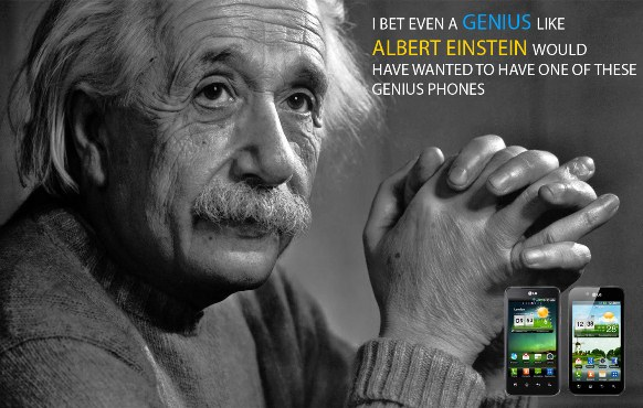 Albert Einstein LG Optimus Genius Phones