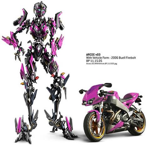 Arcee Motorcycle Transformers Revenge of the Fallen