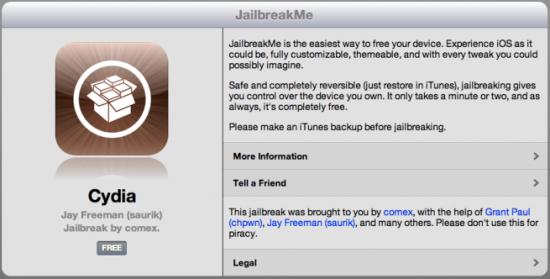 jailbreak iOS 4.3.3 jailbreakme