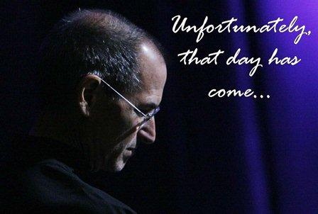 Steve Jobs resigns as apple CEO