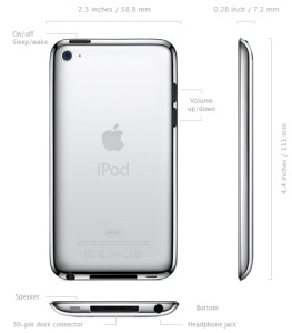 apple ipod touch 4g specs