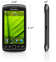 blackberry torch 9860 size dimension