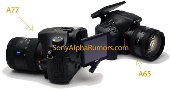 leaked sony a77 and sony a65 alpha cameras