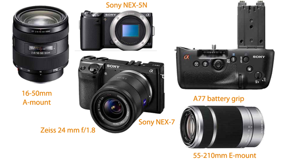 new sony nex and alpha cameras and lenses