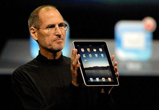 jobs holding ipad
