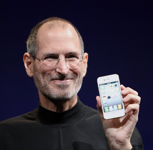 jobs holding iphone