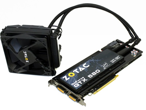 zotac geforce gtx 580 infinity edition with coolit