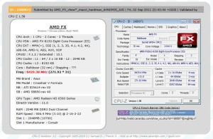 AMD FX Bulldozer fx-8150 8GHz CPU-Z Validation