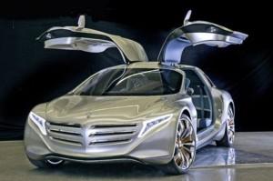 Mercedez-Benz F125 hydrogen gullwing plugin cars