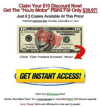 hojo motor discount page