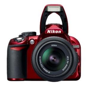 red-nikon-d3100-dslr-camera-front