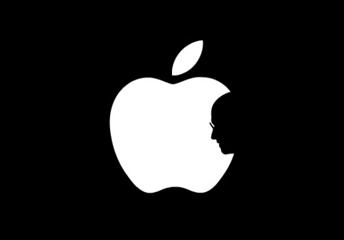 steve jobs apple tribute logo