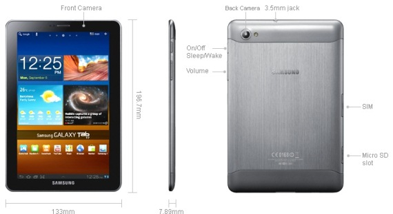 samsung galaxy tab 7.7 specifications