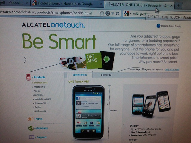 Alcatel one touch 918n