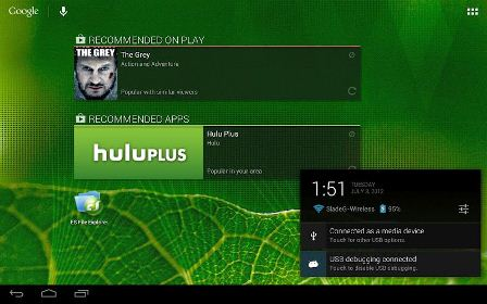 tablet ui on google nexus 7