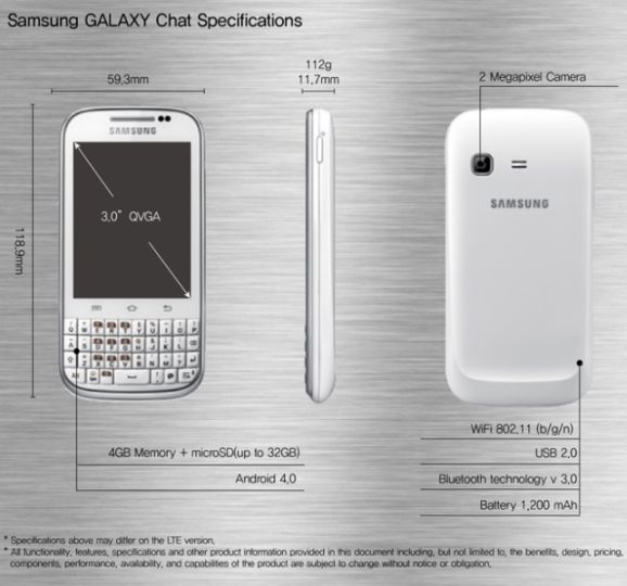 samsung galaxy chat price philippines