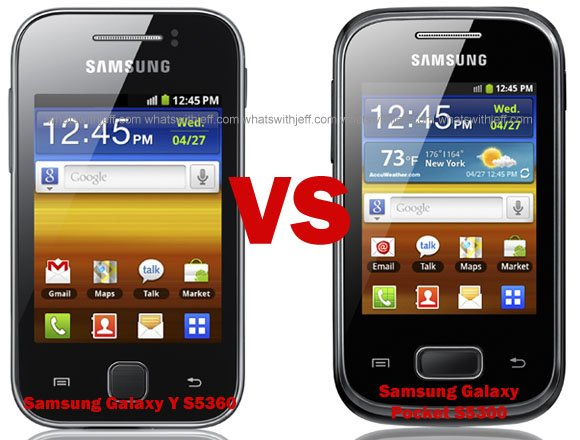 Samsung Galaxy Y vs Samsung Galaxy Pocket: Which one is ...