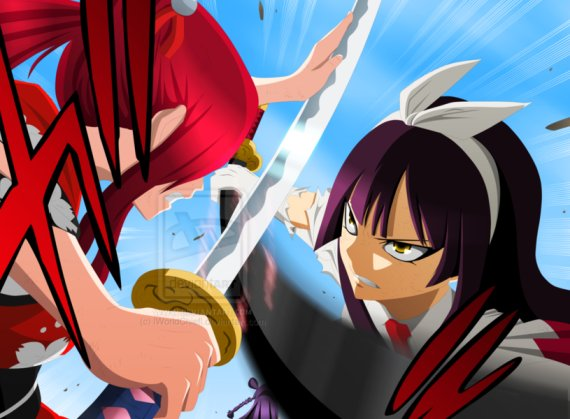 erza vs kagura fairy tail 314