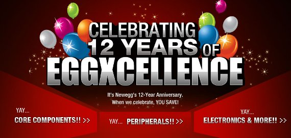 newegg anniversary sale 2013 promo codes