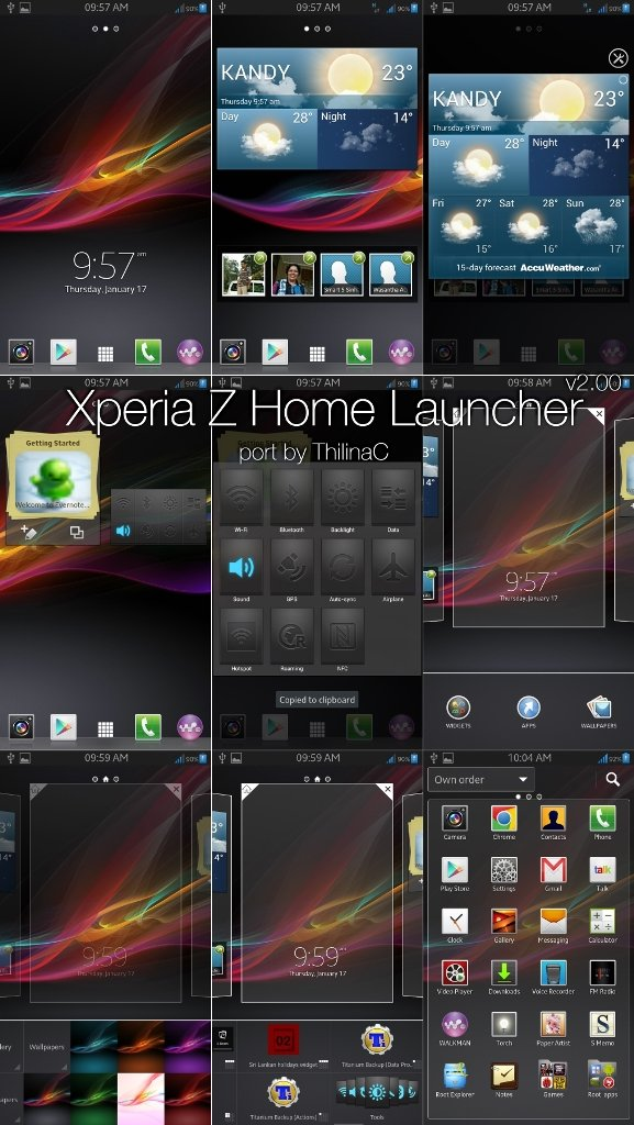 sony xperia z launcher download