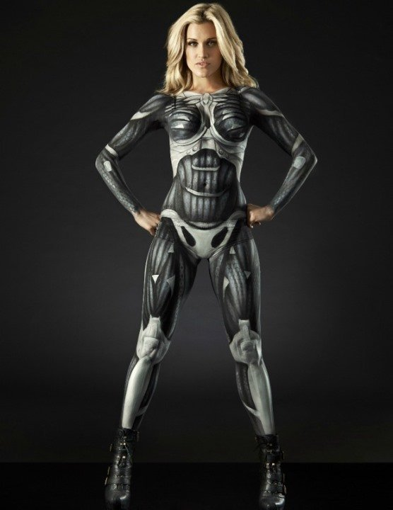 ashley robert in crysis 3 nanosuit