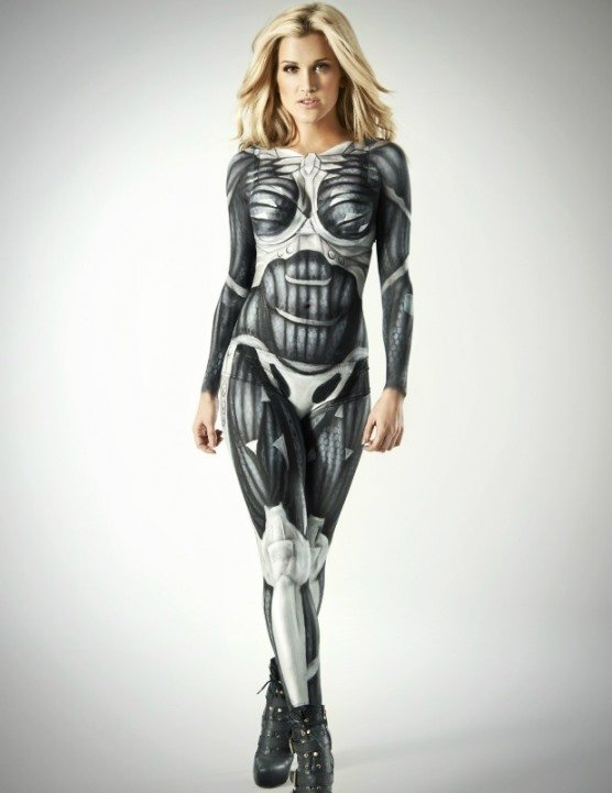 ashley robert nanosuit body paint