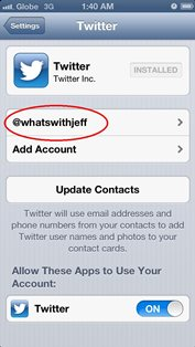 sign out twitter for iphone and ipad 3