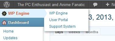 wpegine user portal