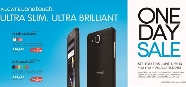 alcatel one touch one day sale 2013