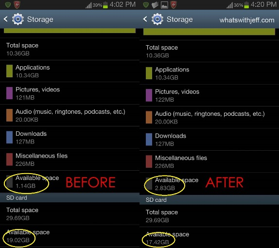 how to move apps to sd card android