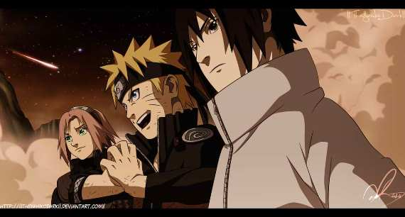naruto 632 team 7 and edo hokages vs juubi