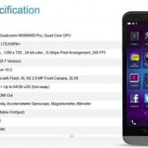 blackberry a10 specs leaked