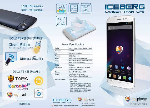 myphone agua iceberg review