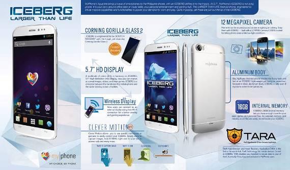 myphone iceberg specs price release date