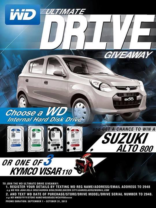 WD Contest win suzuki alto 800