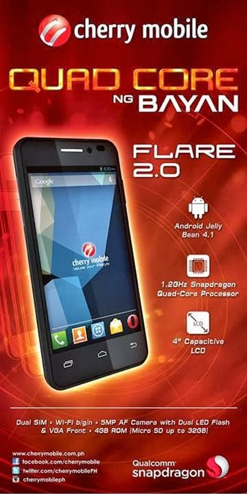 cherrymobile flare 2.0 specs price where to buy
