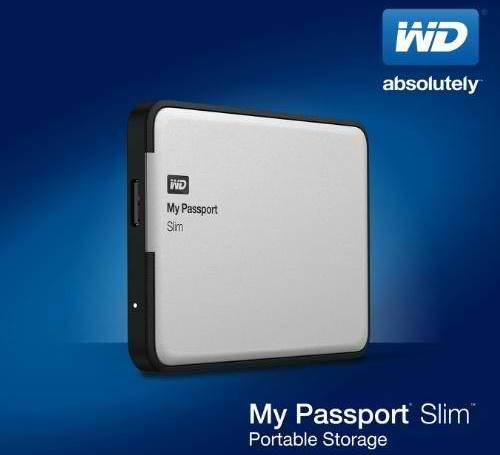 wd my passport slim white