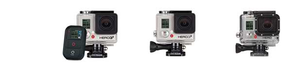 gopro hero 3+ black vs silver edition vs hero3 white edition