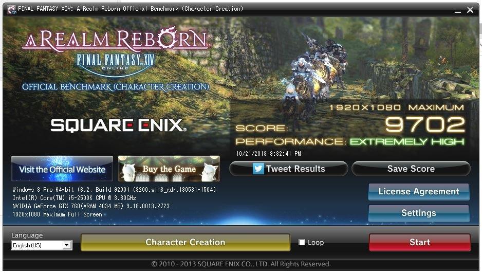 FFXIV-1920x1080 Max settings full screen
