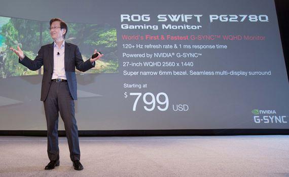ASUS Chairman Jonney Shih Introduced ROG Swift PQ278Q
