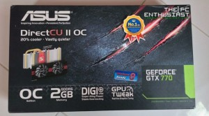 Asus GeForce GTX 770 DirectCU II Box Front