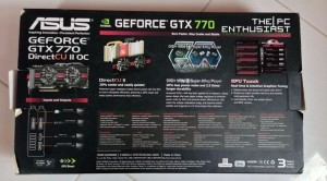 Asus GeForce GTX 770 DirectCU II Box Rear