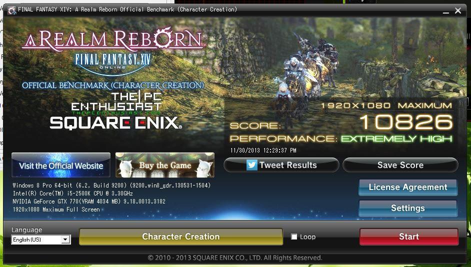 gtx 770 ffxiv benchmark 2