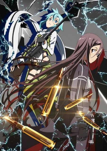 sword art online season 2 gun gale online kirito and shinon