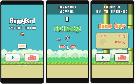 flappy bird typing tutor