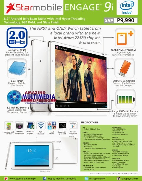 starmobile engage 9i specs price availability
